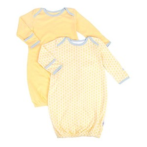 Tadpoles Set of 2 Starburst Sleep Gowns, Yellow, 0-6 months by Tadpoles