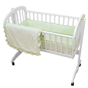 TL Care Heavenly Soft Minky Dot 3 Piece Cradle Set, Celery by TL Care