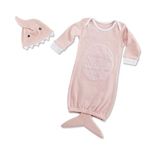 Baby Aspen Let The Fin Begin 2 Piece Layette Set, Pink by Baby Aspen