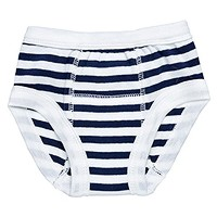 Egyptian Organic Cotton Print Training Pants, Navy Stripe, 2-4 Years by Under the Nile [並行輸入品]