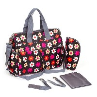 Baby Lovess Baby Diaper Bag Set Flower Tote Handbag Stroller Bags by Baby Lovess