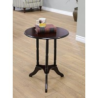 Frenchi Home Furnishing Round End Table, Expresso [並行輸入品]