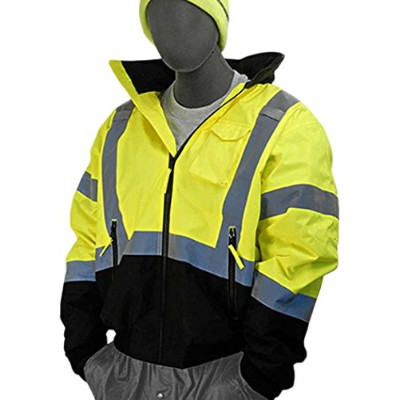 Majestic Glove 75-1313/T4 Bomber Jacket, Black Bottom, Quilt Lined, Hi-Vis, Class 3, 4X-Large/Tall,...