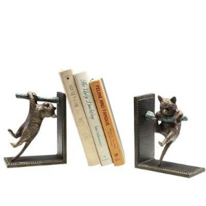 Climbing Cat and Branch Book Ends (Set of 2) [並行輸入品]
