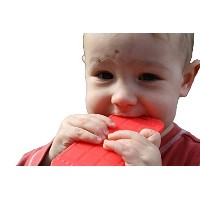 Chew This Instead iPhone Shaped Baby Teething Toy, Red - Safe for Infants and Toddlers, Soft...