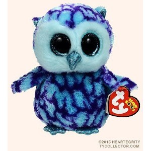 New TY Beanie Boos Cute OSCAR the Blue & Purple Owl Plush Toys 6'' 15cm Ty Plush Animals Big Eyes...