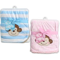 30 X 30 Little Mimos Newborn Pink Baby Blanket by Little Mimos [並行輸入品]