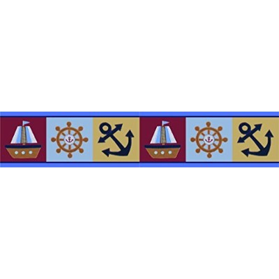 GEENNY Wall Border, Sailor Nautical by GEENNY