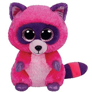 Ty Beanie Boos Roxie The Pink/Purple Raccoon Plush 6 inch by Ty.com