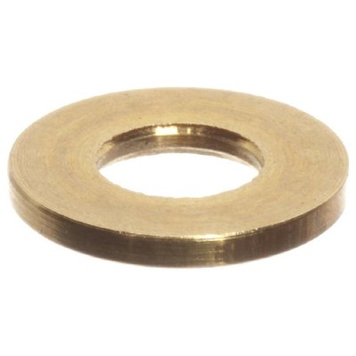 Brass Flat Washer, #2 Hole Size, 0.0890 ID, 0.0280 Nominal Thickness (Pack of 100) by Small Parts