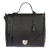 Trussardi Woman Handbag in Genuine Dollar Leather 100% Calf - 32x30x14 cm 女性のためのバッグ (Black) [並行輸入品]