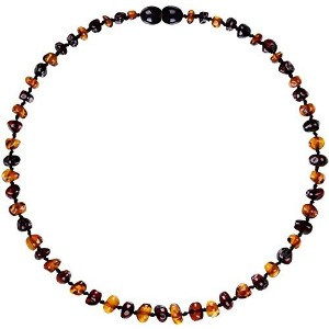 Baltic Amber Teething Necklace for Babies - Lab-Tested - Comes With Silicone Teething Necklace -...