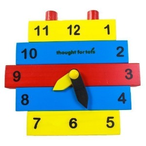 Build a Clock - Learn to Tell Time Wooden Toy Puzzle [並行輸入品]