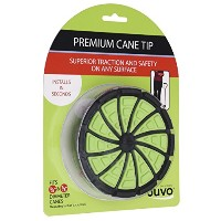 Juvo Products Premium Cane Tip with Extra Wide Base, Fits 3/4 or 7/8 Diameter Canes, Green/Black ...