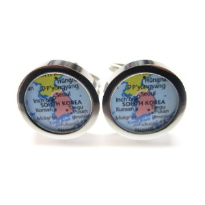 South Korea Map Cufflinks