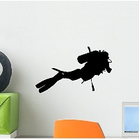 Wallmonkeys Wall Decals Diving 7 Peel and Stick Fabric Peel and Stick Wall Decal, Multicolor by...