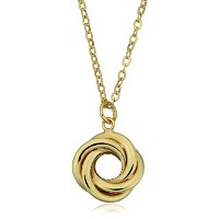 """10K Yellow Gold Love Knot Pendant On 18"""" Necklace"""