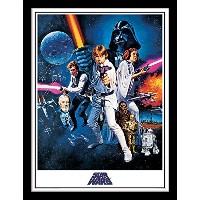 STAR WARS 30x 40cm A新しいHope One Sheet Framed Print by Star Wars