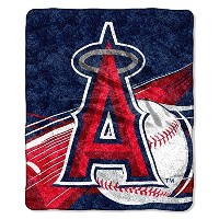The Northwest会社MLB Los Angeles Angels Big Stick Sherpa Throw、50-inch by 60-inch