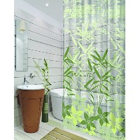 Dainty Home 13-Piece Oasis Containing Shower Curtain and 12 Metal Hooks Set, Sage [並行輸入品]