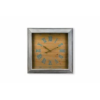 Foreside Home and Garden Vintage Style Amherst Wall Clock, Square [並行輸入品]