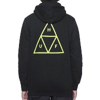 HUF Triple Triangle Pullover Hoodie Black/Lime Green S パーカー