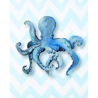 Cici Art Factory Paper Print Wall Hanging, Octopus by Cici Art Factory