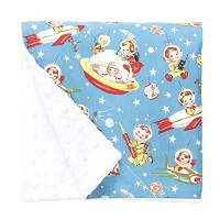 Baby Elephant Ears Ultra Soft Baby Blanket (Large (27x29), Retro Rockets) by Baby Elephant Ears