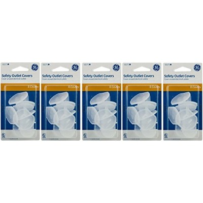 GE Outlet Safety Covers, Clear 40 Count by GE