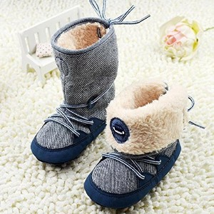 Kidstree Toddler Boots, Soft baby shoes, 0-18M Winter Baby Boy Boots Soft Sole Lace Up baby Soft...