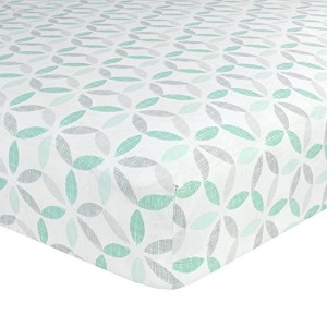 Just Born Cotton Fitted Crib Sheet, Tribeca by Just Born