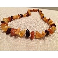 Baltic Amber Teething Necklace 13.5 inches for Babies, baby toddler, big kid, boy, girl, (Unisex) ...