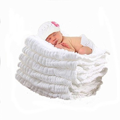 Lucear Newborn Muslin Cotton Warm Baby Bath Towel White Also for Baby Swaddle Blanket - 1pcs by...