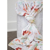 100% Organic Muslin Swaddle Blanket by ADDISON BELLE - Oversized 47 inches x 47 inches - Best Baby...