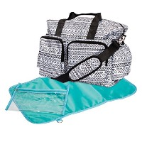 Trend Lab Aztec Deluxe Duffle Diaper Bag, Black/White by Trend Lab