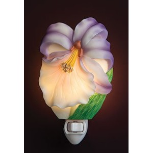 Ibis & Orchid Purple Orchid Night Light # 50197