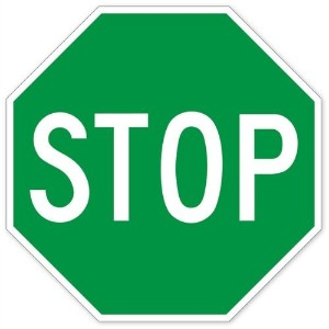 Walls 360 Peel & Stick Traffic and Street Sign Wall Decals: Green Stop Sign (12 in x 12 in) by Walls 360
