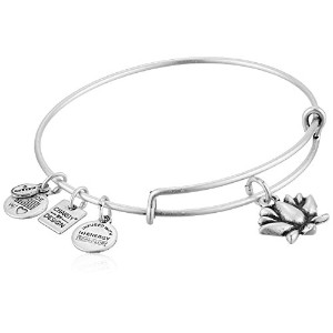 Alex and Ani Charity by Design Lotus Blossomバングルブレスレット One Size