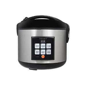 Tayama TRC-50 5Cup Digital Rice Cooker & Food Steamer, Black by TAYAMA