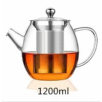 tealise高熱抵抗ティーポットwithステンレススチールfor Flower Tea and Loose Leaf Tea Pot 1200ml