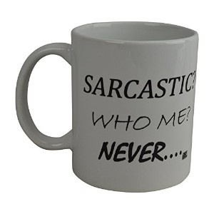 Rogue River面白いコーヒーマグ11オンスSarcastic Who Me Never SarcasmノベルティCup Great Gift Idea For Men And Women