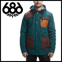 【激安SALE】 FOREST BAILEY COSMIC HAPPY INSULATED Jacket Black Jade Colorblock 【686-ロクハチロク】 16/17...