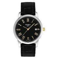 ティソ Tissot 腕時計 メンズ 時計 Tissot Men's Classic Black Leather Black Dial