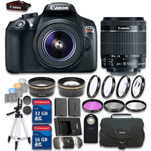 Canon EOS Rebel T6 DSLR デジタル Camera & EF-S 18-55mm f/3.5-5.6 IS II レンズ with 48GB in SDHC Memory &...