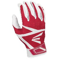イーストン メンズ 野球 グローブ【Easton Z3 Hyperskin Batting Gloves】White/Red