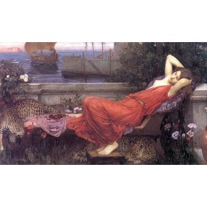 油絵 John William Waterhouse_ アリアドネ