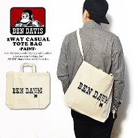 (ベンデイビス)BEN DAVIS公式 2WAY CASUAL TOTE BAG -PAINT- bdz-9800d NATURAL FREE