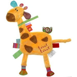 Vital Innovations Label-Label LL-FR1205 Cuddly Animal Toy Friends Giraffe Orange
