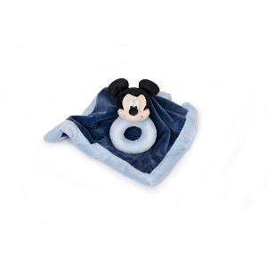 Disney Mickey Mouse Security Blanket & Rattle Set by Disney