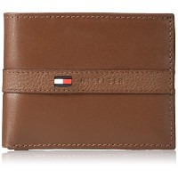 Tommy Hilfiger トミーフィルフィガー 財布 メンズ 財布 Men's Leather Ranger Passcase Wallet (Tan)